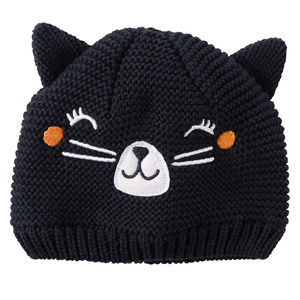 Carters Baby Girl Knit Kitty Hat